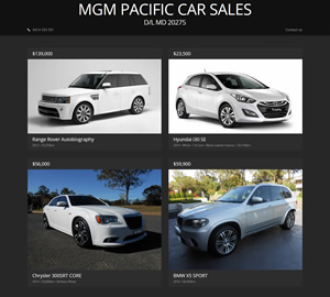 MGM Pacific Car Sales